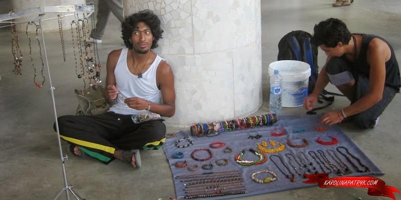 Street artist in Barcelona