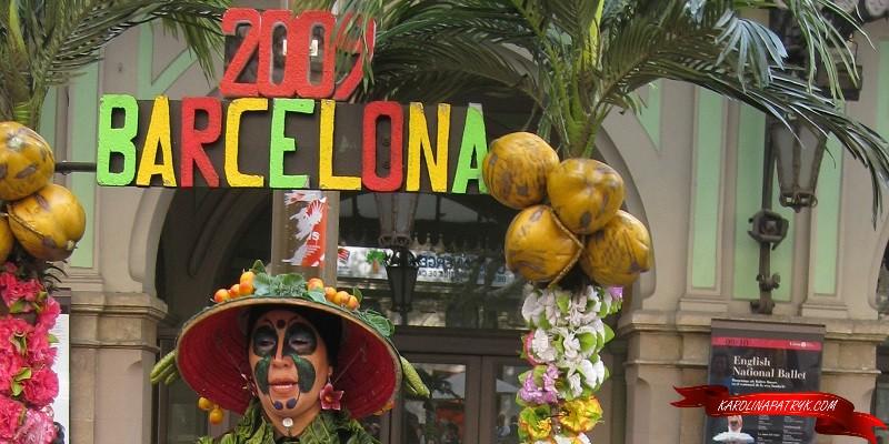 Street artist in Barcelona 2009