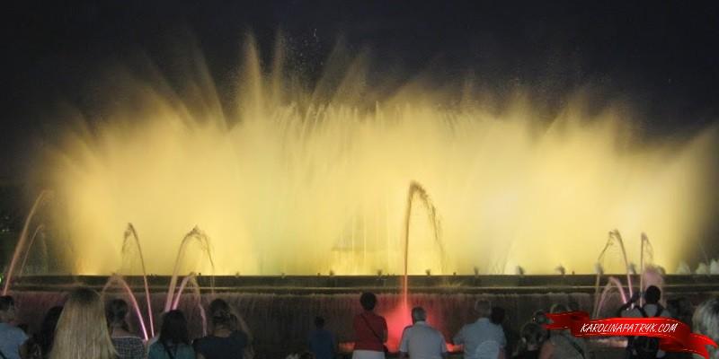 Dancing fountains in Barcelona costa brava