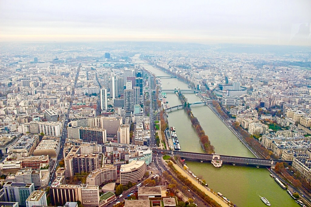 Aerial view on Paris