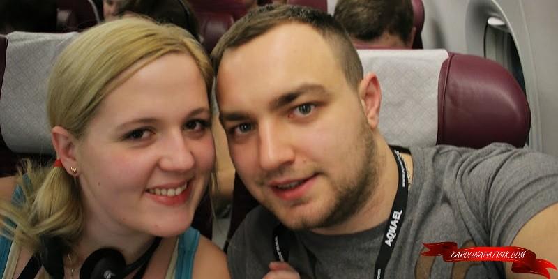 Karolina&Patryk in the plane