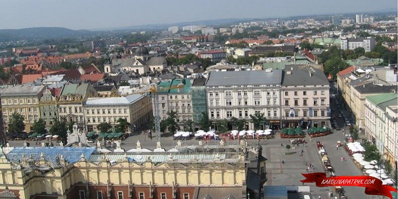 Aerial view on Cracow Old Town, Poland