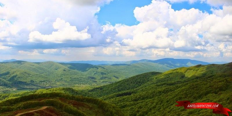 View from Tarnica, the highest peak of Bieszczady Mountains, Poland
