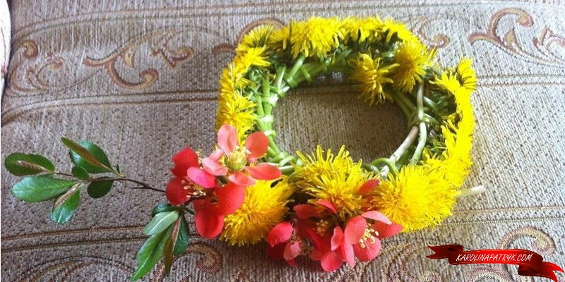 Flower wreath made from Polish flowers