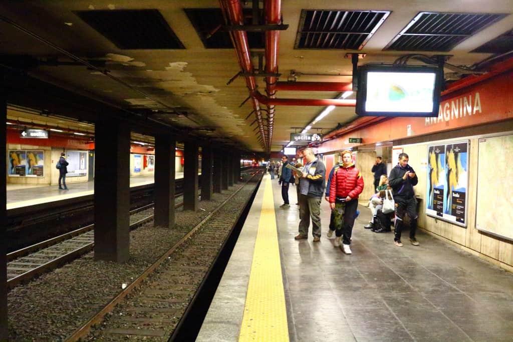 anagnina metro station underground inside