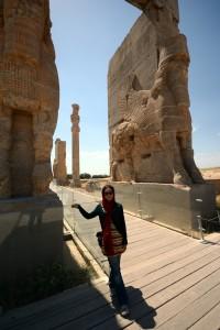 Angela at Persepolis