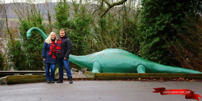Karolina and Patryk with Loch ness monster