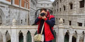 Patryk taking photo