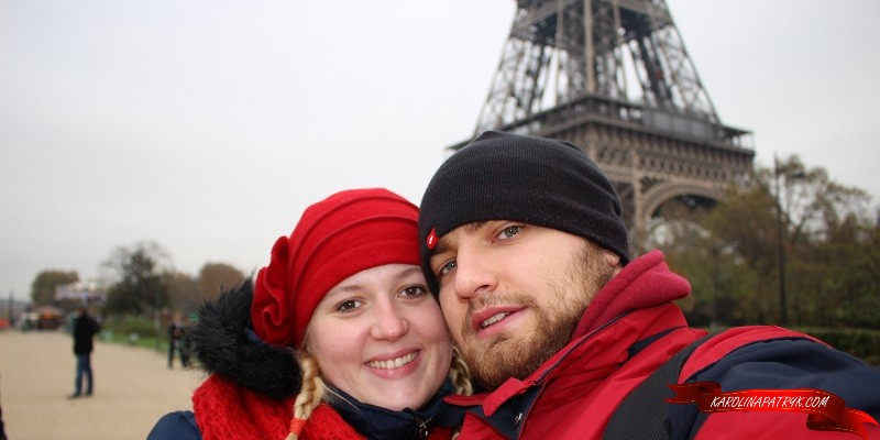 Karolina&Patryk with the Eiffel tower