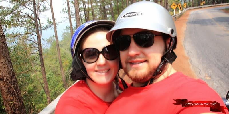 Karolina&Patryk travelling on scooter