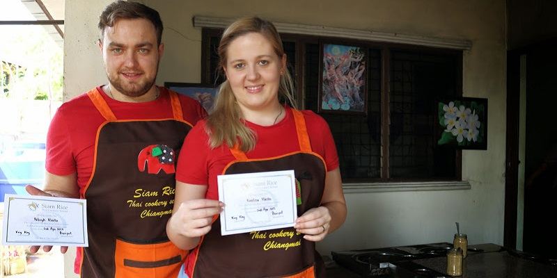 Karolina&Patryk with cooking certificates