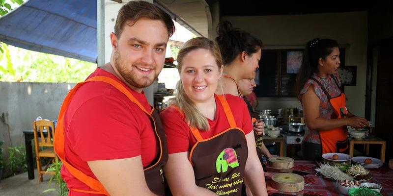 Karolina&Patryk during cooking class