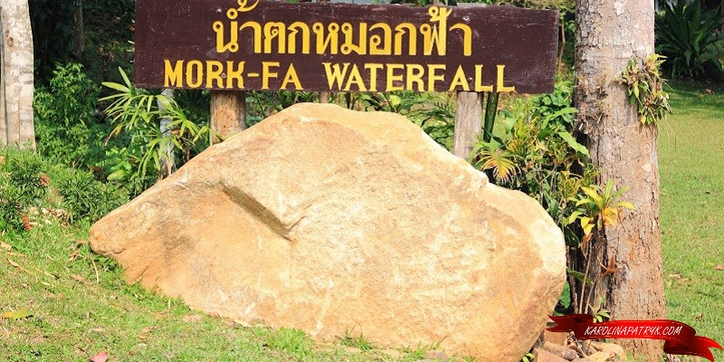 Entrance to the Mork Fa waterfall