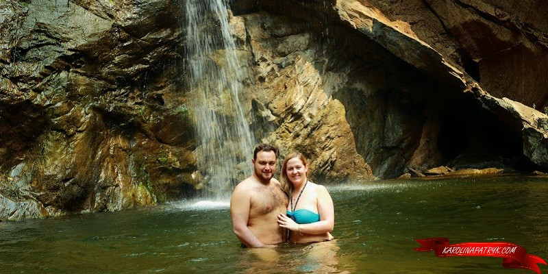 Karolina&Patryk at Mork Fa waterfall in Thailand