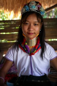 Kayan girl, neck rings