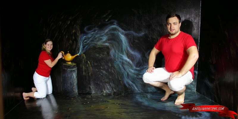 Karolina&Patryk in 3D Museum in Chiang Mai