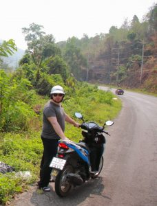 A trip from Chiang Mai to Pai by motorbike is fun!