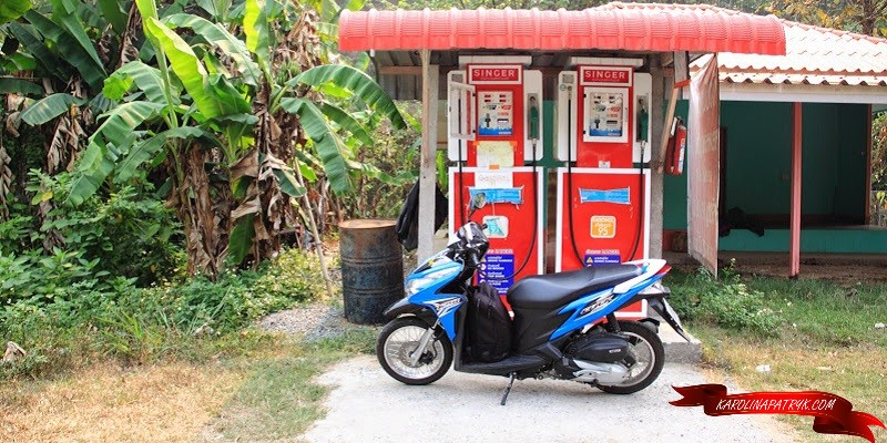 Blue scooter in Thailand