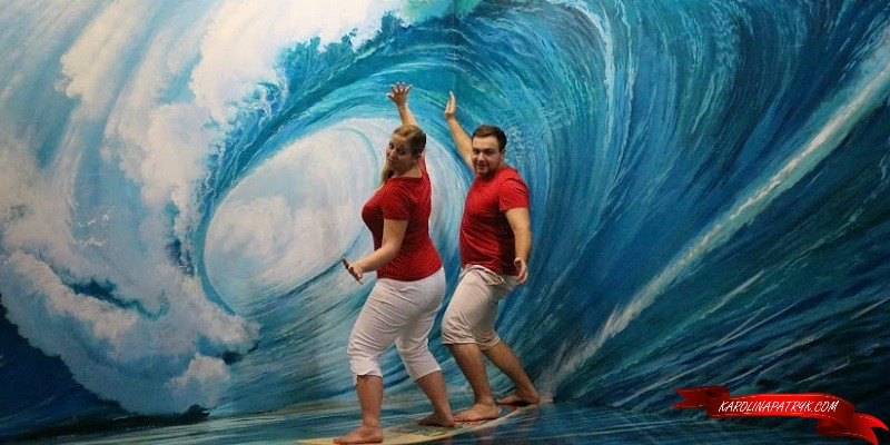 Surfing at Art in Paradise Museum