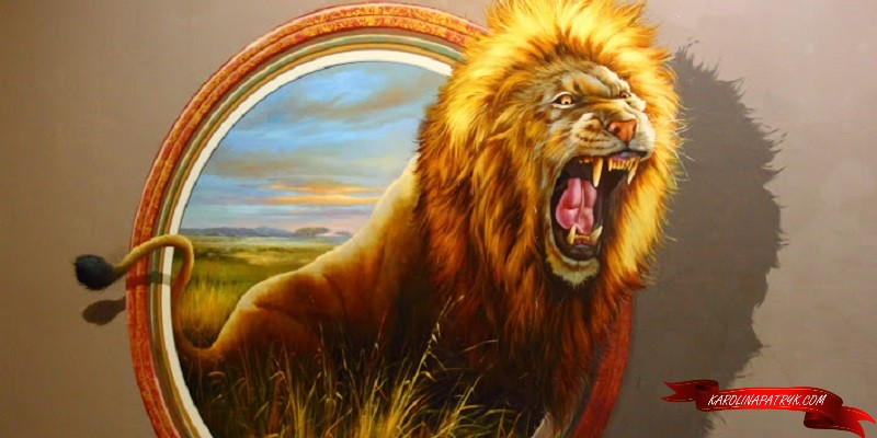 Lion at Art in Paradise Museum