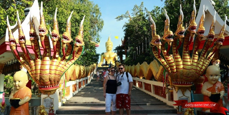 Karolina&Patryk at Big Buddha temple in Pattaya
