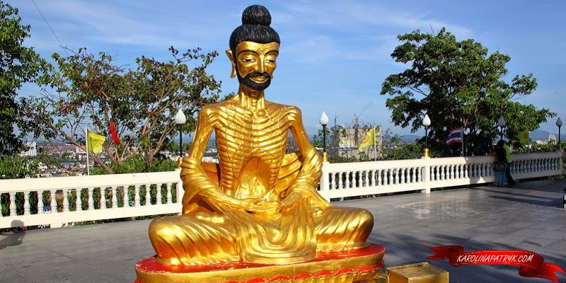 Skinny Buddha statue