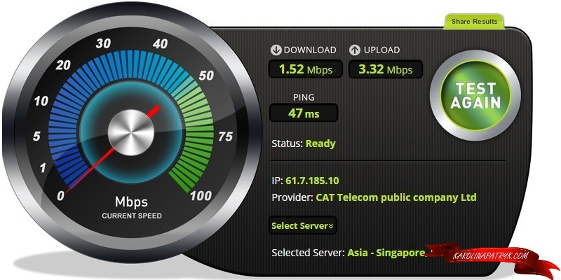 Cafeinteria Maya fast wifi Chiang Mai speedtest