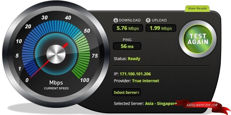 Cozy Cafe fast wifi Chiang Mai speedtest