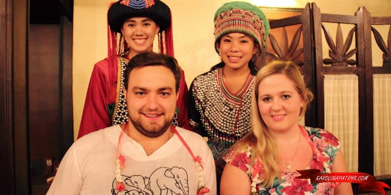 Karolina&Patryk with Thai people