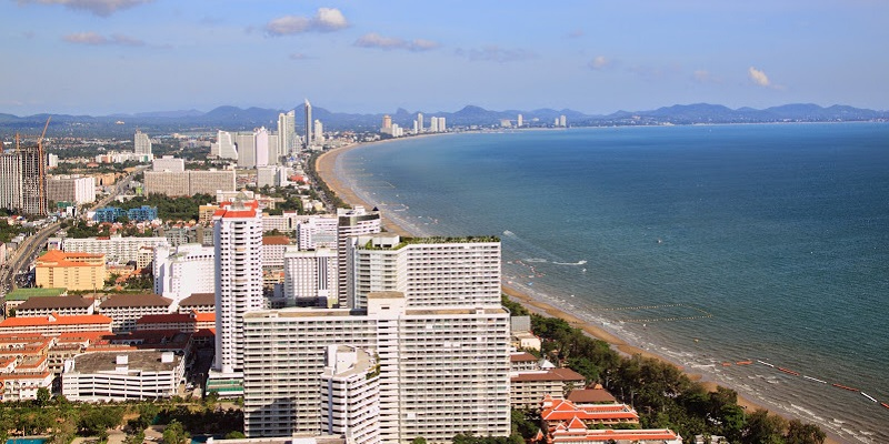 Aerial view on Pattaya