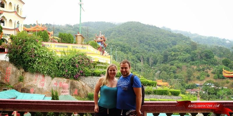 Karolina and Patryk in Kek Lok Si Temple in Penang