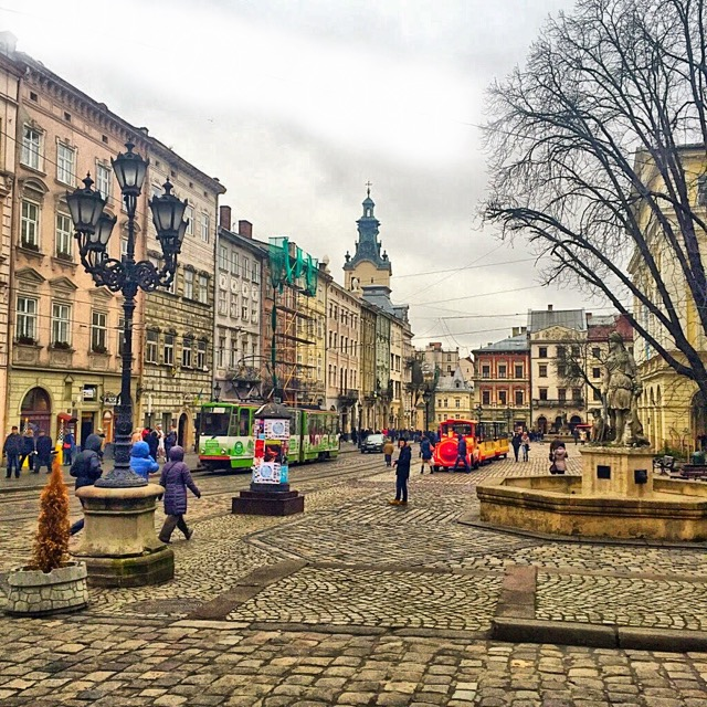Rynok Square in Lviv