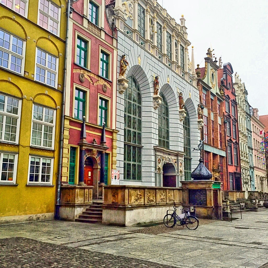 Beautiful old colourful houses in Gdansk