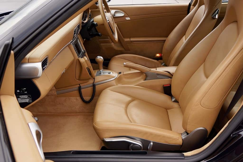 car inside beige