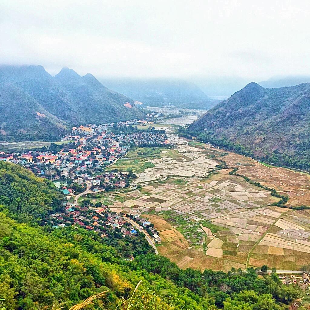 Aerial view on Mai Chau