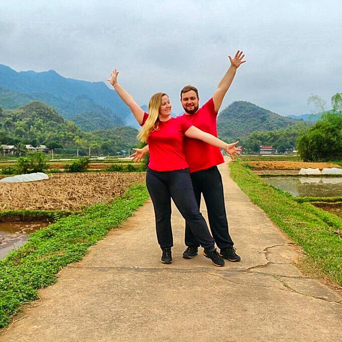 Karolina and Patryk in Mai Chau