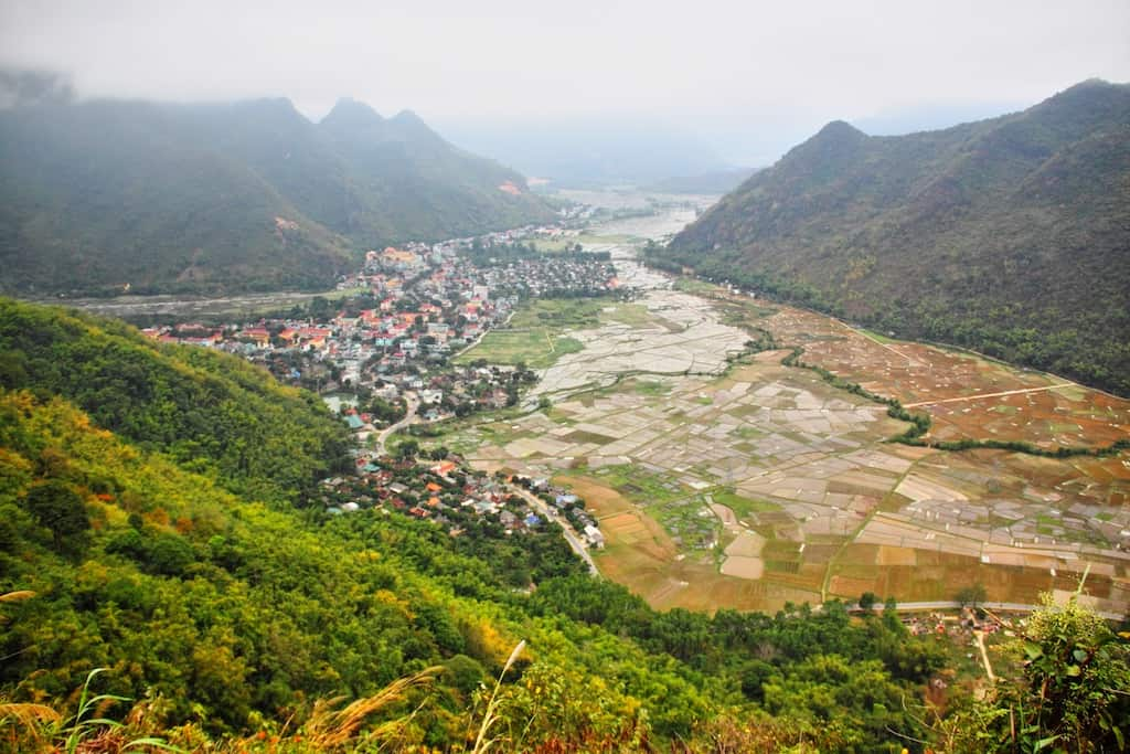 Mai Chau valley view