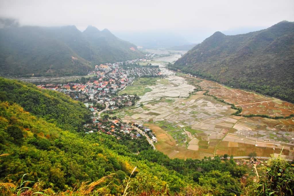 Mai Chau valley view