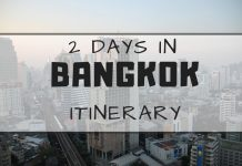 2 days in bangkok itinerary