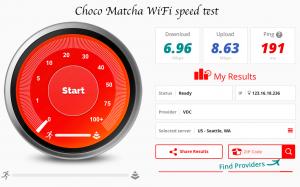 Choco Matcha speed test