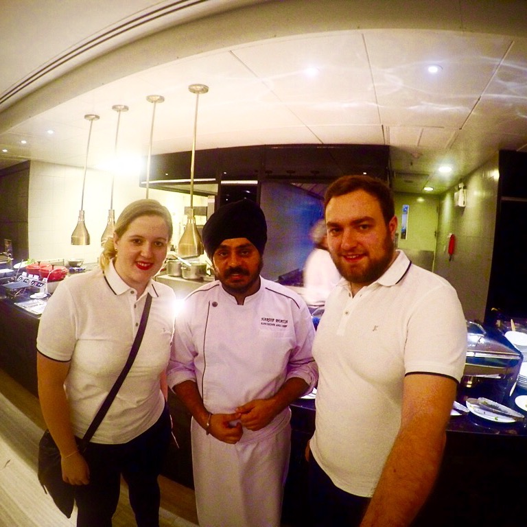 Karolina and Patryk with Indian chef