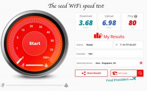 The seed speed test fast wifi Hanoi