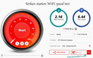 Urban station speedtest