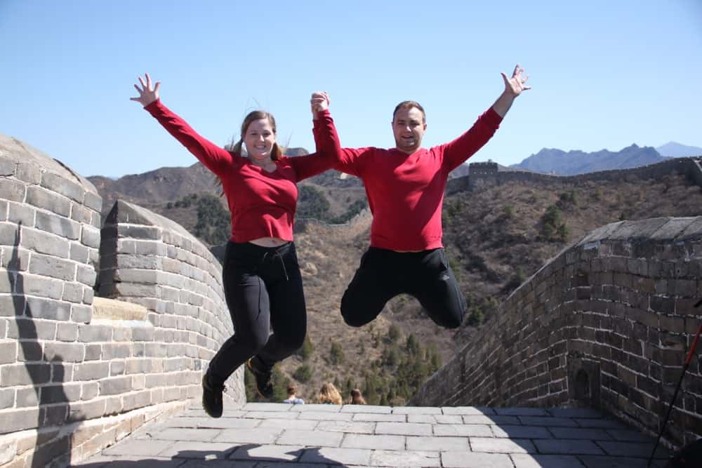 Us at the Great Wall Beijing