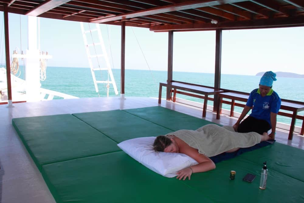 Massage on the Phuket Spa Boat