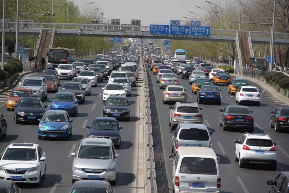 Traffic jam in Beijing