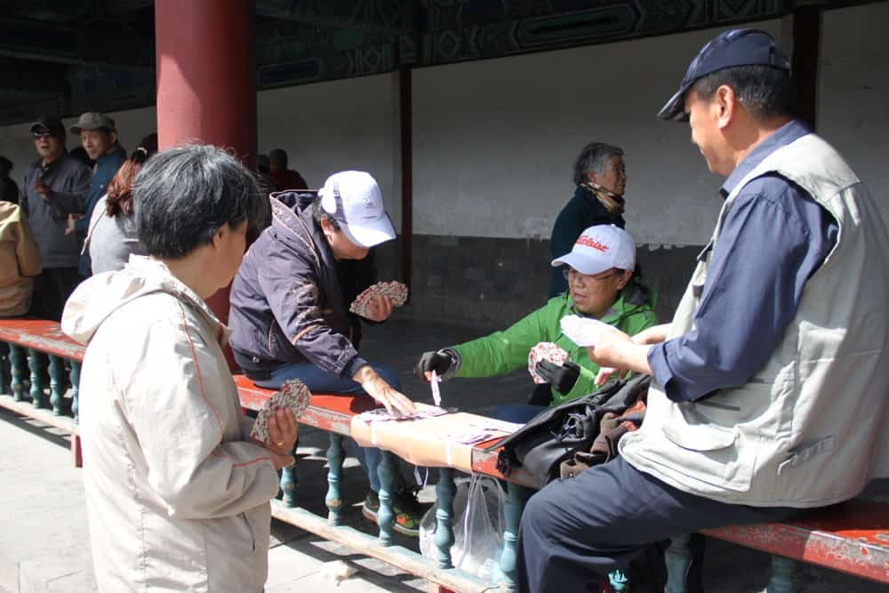 Old people in China
