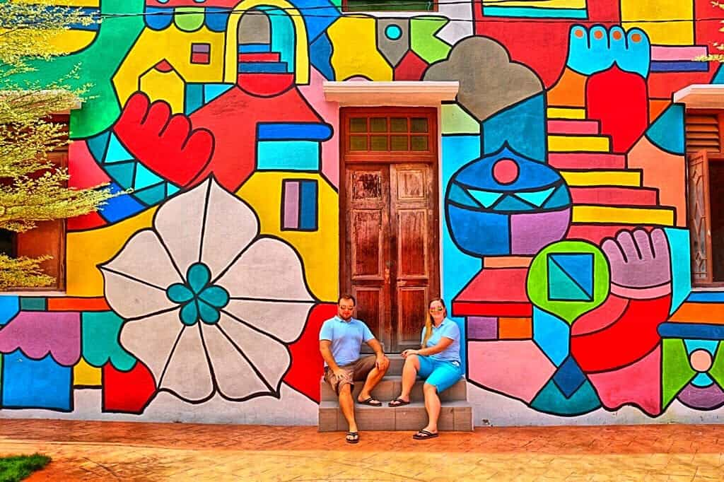 Colourful wall in Melacca