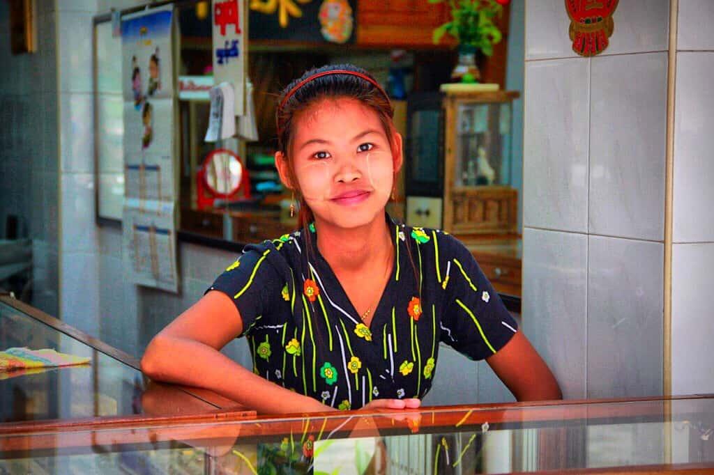 Thanaka in Burma