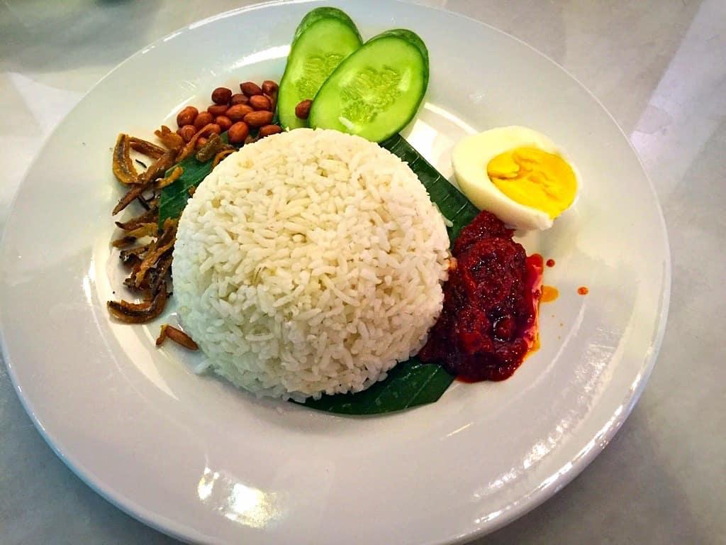 Nasi Lemak traditional Malaysian dish
